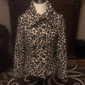 Double breasted leopard skin blazer jacket💋